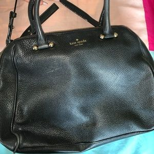 Black Kate spade leather